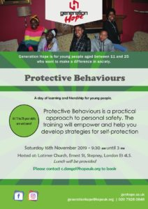 Protective Behaviours Training for Young People @ Latimer Congregational Church | England | United Kingdom